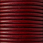3mm round Indian leather - bordeaux  - per 4 feet