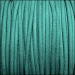 3mm round SUEDE Euro leather TURQUOISE - per 4 feet