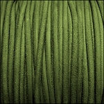 3mm round SUEDE Euro leather GREEN - per 4 feet