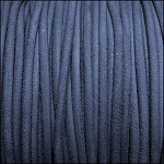 3mm round SUEDE Euro leather DENIM - per 4 feet