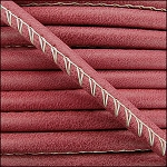 5MM ROUND ARIZONA LEATHER PER INCH Red