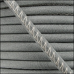 5MM ROUND ARIZONA LEATHER PER INCH Grey