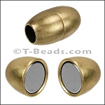 5mm round SMOOTH BARREL magnetic clasp - Brass