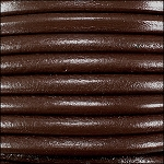 5MM ROUND EURO LEATHER PER YARD - Rich Brown