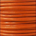 5MM ROUND EURO LEATHER PER YARD - Tangerine