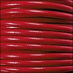5MM ROUND EURO LEATHER PER YARD - True Red
