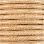 5MM ROUND EURO LEATHER PER YARD - Natural
