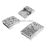 10mm flat SWIRL magnetic clasp ANT SILVER