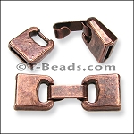CLEARANCE Fold Over Clasp - 10mm - Copper