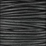 Natural Dye 2mm Leather per 3 yards Black