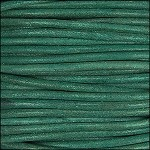 Natural Dye 2mm Leather per 3 yards Turquoise