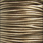 Metallic 2mm Leather per 3 yards Kansa