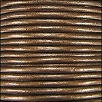 Metallic 2mm Leather per 3 yards Brown