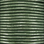 Metallic 2mm Leather per 3 yards Olive Green