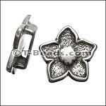 Flower slider ANT SILVER per piece