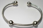 Sterling Silver Change-a-Bead Bangle Bracelet