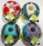 Turtles 2 Glass Lampwork Beads