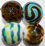 Small Lentils Glass Lampwork Beads 5