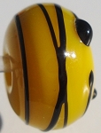 Black Stringer - Yellow Glass Lampwork Beads