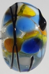 Black Stringer - Yellow Frit Glass Lampwork Beads