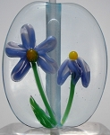 Violet Daisies Glass Lampwork Beads