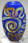 Blue & Raku Focal Glass Lampwork Beads