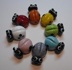 Lady Bug Glass Lampwork Beads