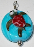 Sea Turtle Glass Pendant