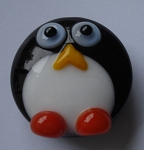 Penguins Glass Lampwork Beads