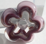 New Violet and Clear Flower Disc Glass Lampwork Beads