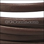 MINI Regaliz™ Leather Oval per inch PLAIN dark brown