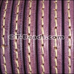 Regaliz™ Leather - Stitched Grape