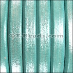 Regaliz™ Leather - Metallic Turquoise