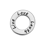 Live, Laugh, Love Ring- Pk of 2