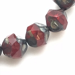 Central Cut - Transparent and Opal Red with Picasso Finish - 9mm
