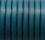 Flat Leather 5mm - per inch Turquoise
