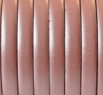 Flat Leather 5mm - per inch Metallic Salmon