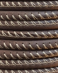 5MM ROUND ARIZONA LEATHER PER INCH Brown