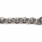 Hammered Washer chain - Per Foot - Antique Silver