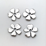 Center Hole Flower Charm / Button-  Pk of 4