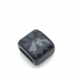 Clay River - 10mm - Etched Daisy - Black