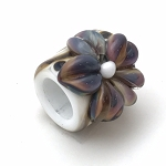 Raku Flower on White