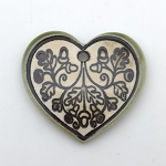 Clay River Porcelain Large Heart Pendant