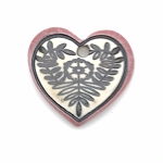 Clay River Porcelain Heart Pendant