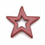 Clay River Porcelain Star Pendant