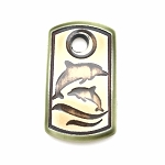 Clay River Porcelain Dog Tag Pendant