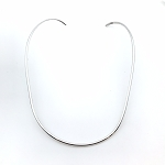 Oval German Silver Necklace