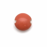 Golem Small Lentil Bead - Orange