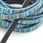 Flat Leather 5mm - Aztec Leather - Blue