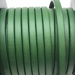 Flat Leather 5mm - kelly green per inch